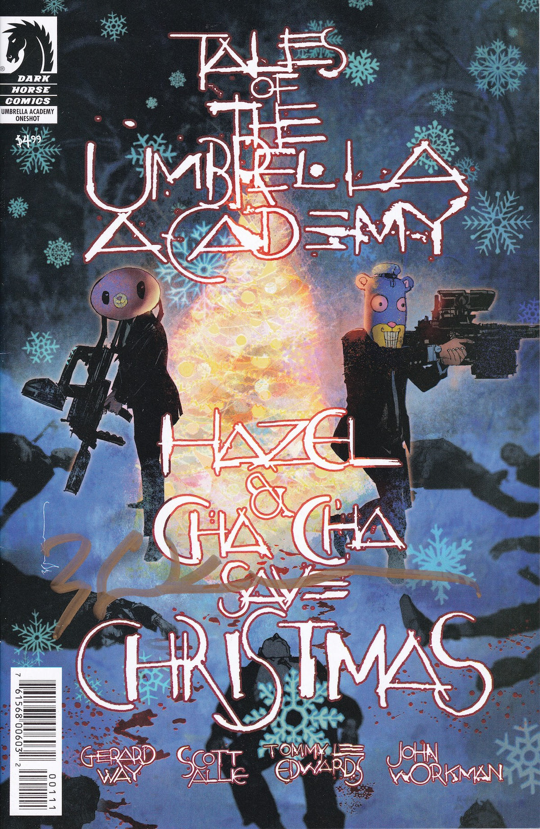Tales of Umbrella Academy Hazel & ChaCha Save Christmas LCSD Variant Signed