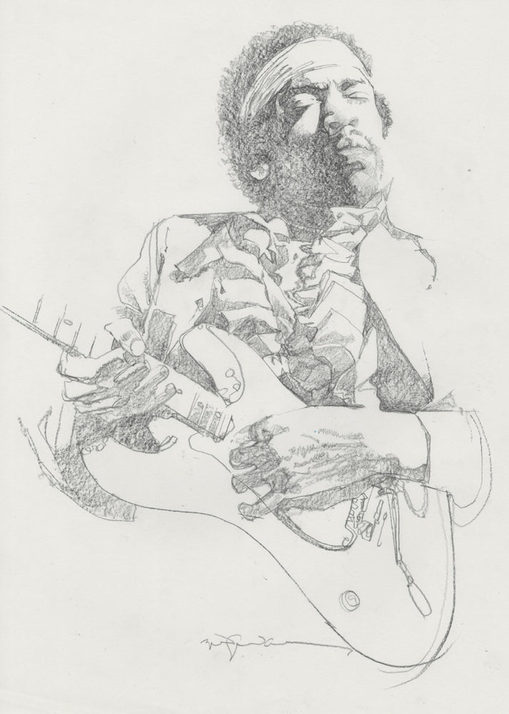 Hendrix Portrait (With Guitar)