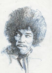 Hendrix Portrait (Black and White)
