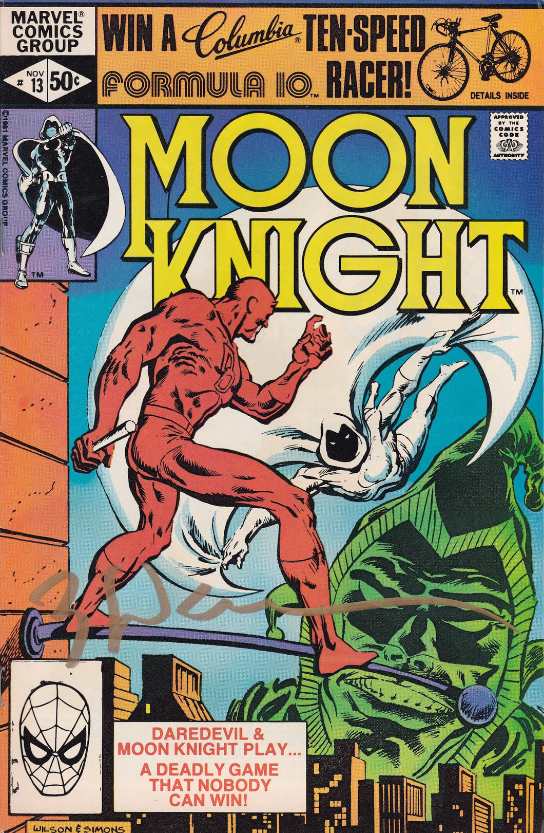 Moon Knight #13 Signed