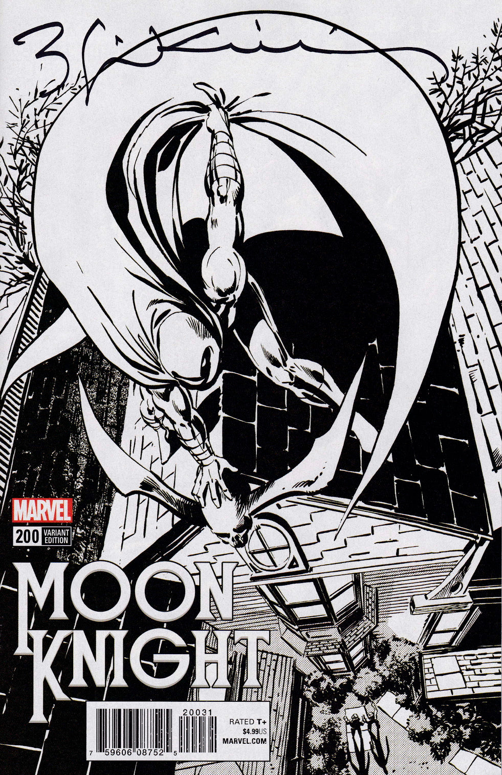 Moon Knight #200 Sienkiewicz Remastered BW Variant