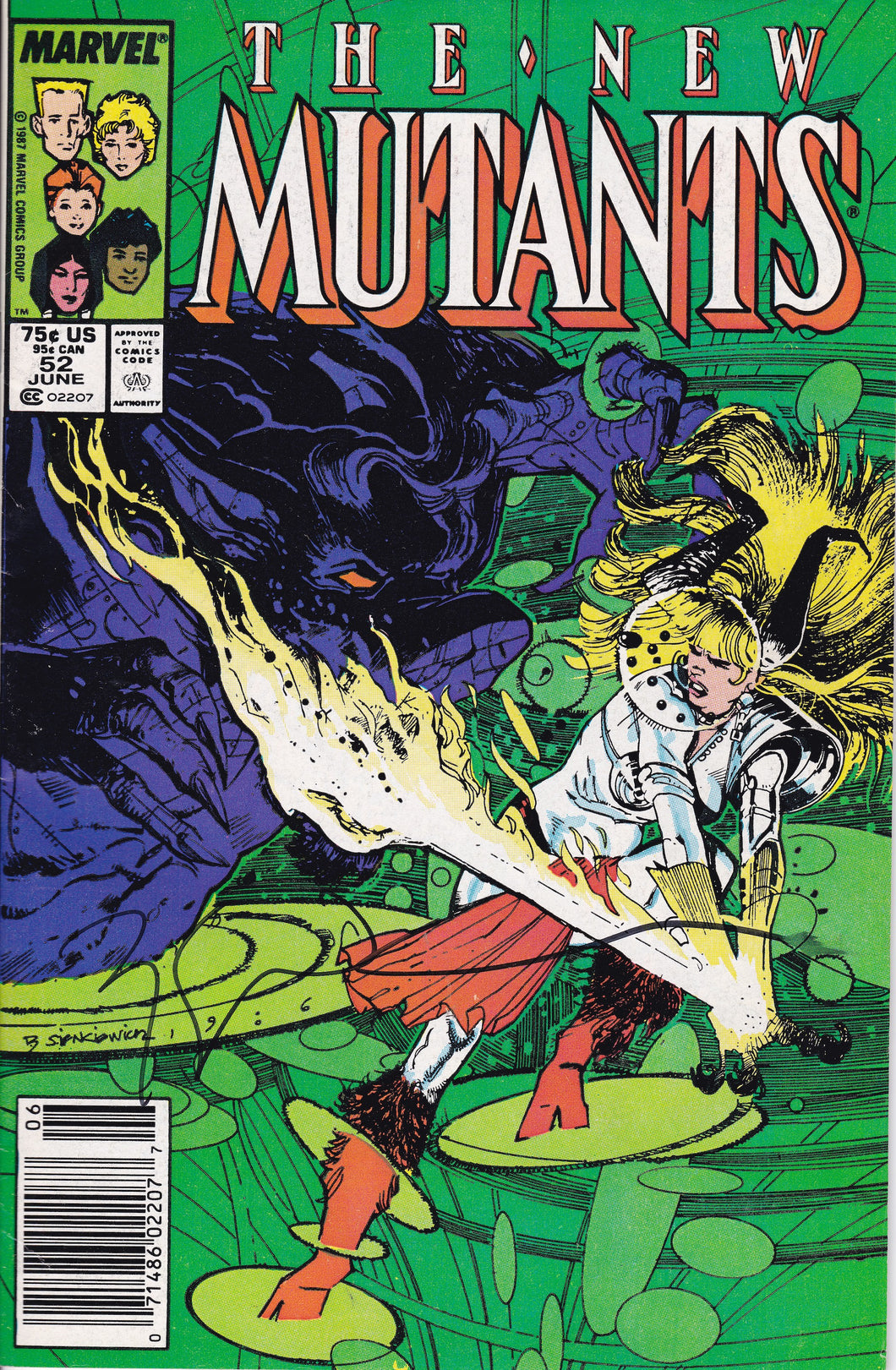 New Mutants #52 Signed