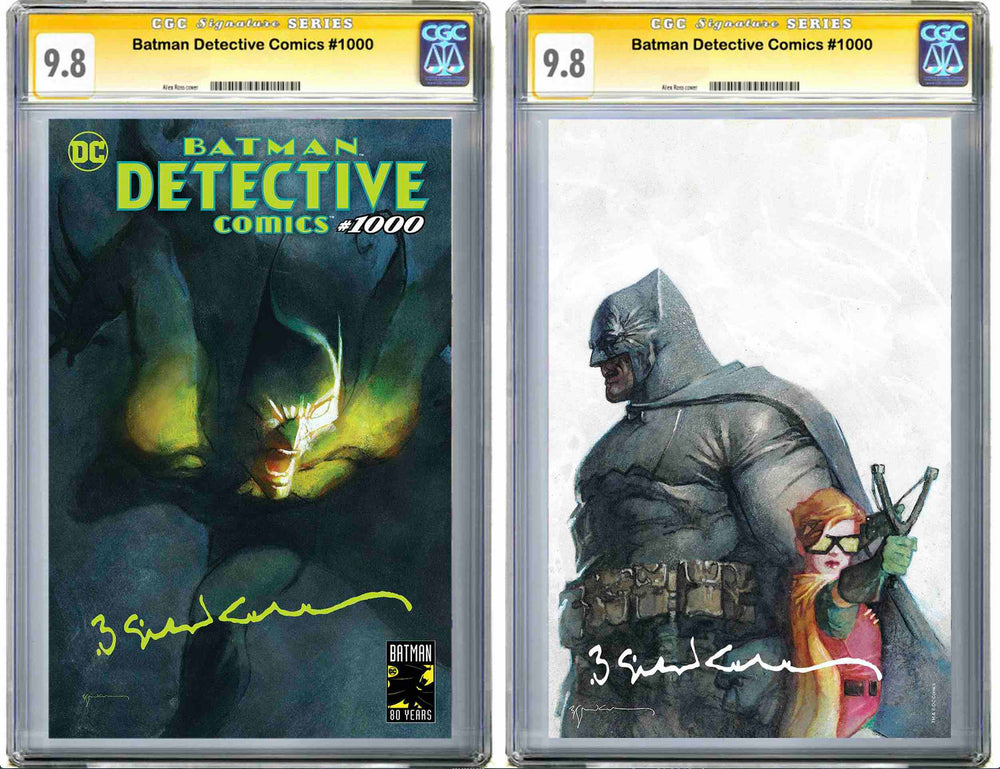Detective Comics #1000 Sienkiewicz Exclusive Set of 2 CGC 9.8 Signature Series