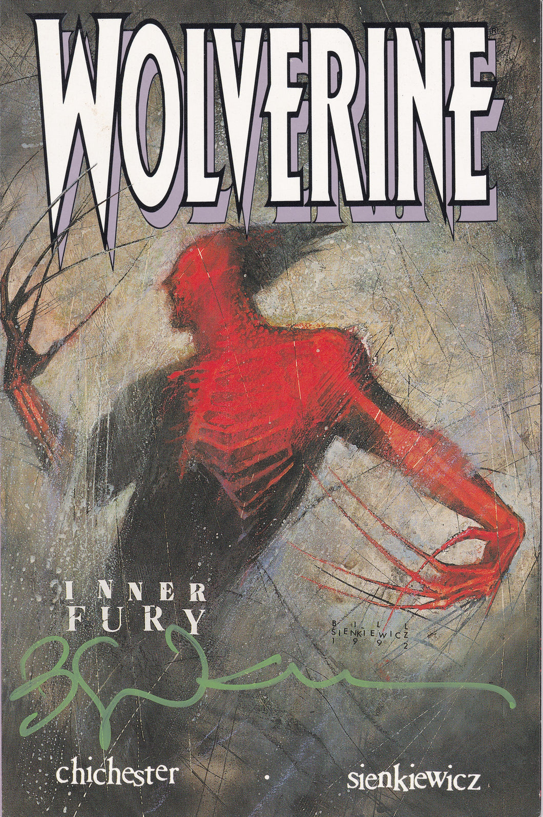 Wolverine Inner Fury Signed Exclusive