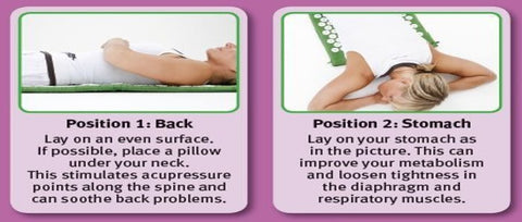 How to use an acupressure mat for back and stomach