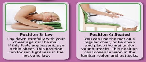 How to use an acupressure mat for jaw and while sitting