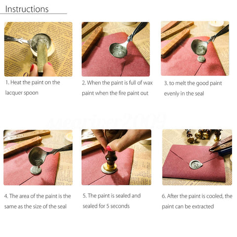 Wax Seal Kit Instructions