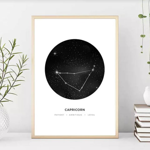 Zodiac Capricon Wall Art