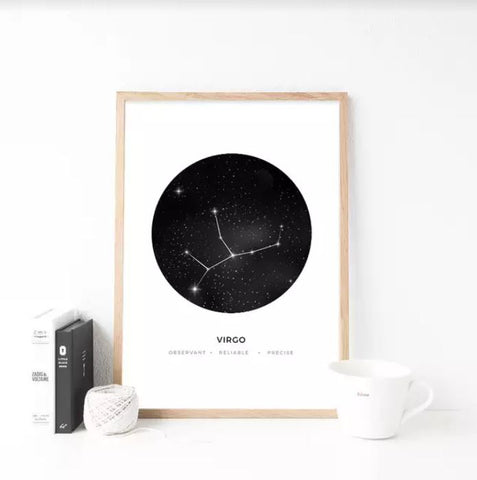 Zodiac Virgo Wall Art