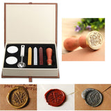Wax Sealing Kit with Vintage Wax Stamp
