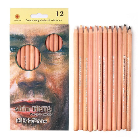 Soft Pastel Skin Tone Colored Pencil Set