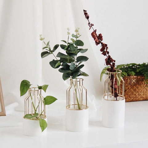 Ceramic Wire Vase Planter