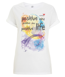 "Tshirt Oriental ""Be Positive"""