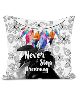 "Cuscino Oriental ""Never Stop Dreaming"" 50x50cm"