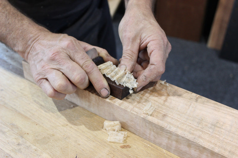 HNT Gordon Palm Smoothing Plane in action