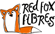 Cartoon Fox with the text Red Fox Fibres