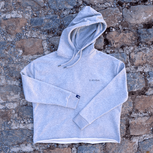 EUROPEAN Hoodie Women - Blue on grey statement - European By Choice