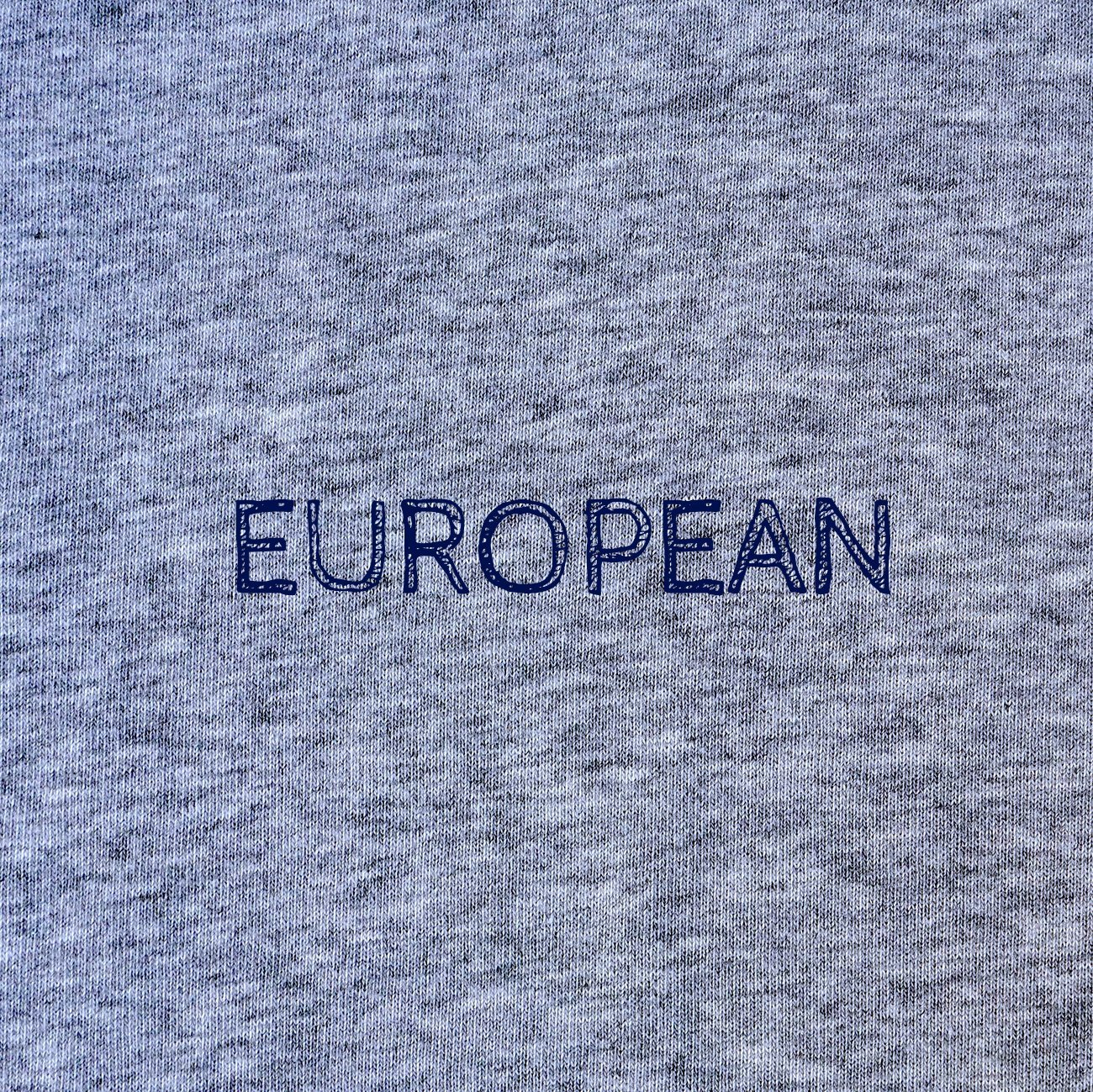 Grey Hoodie Unisex - Printed statement, Hoodie - European Flag Fashion, Clothing & Apparel from  European By Choice