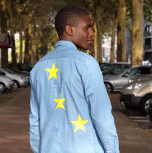 Stars Faux-Jeans Shirt Unisex - European By Choice