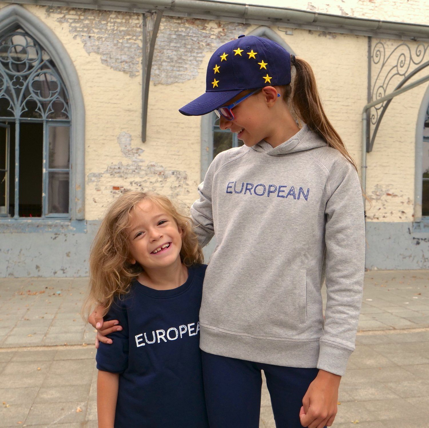 Sweater Kids - White on blue statement, Pullover - European Flag Fashion, Clothing & Apparel from  European By Choice