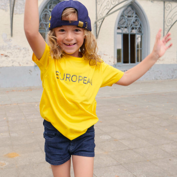 EUROPEAN T-shirt Kids - Yellow statement - European By Choice