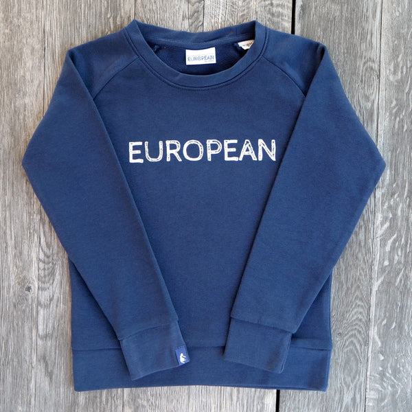 EUROPEAN Sweater Kids - White statement - European By Choice