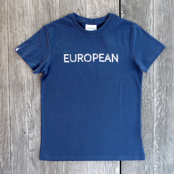EUROPEAN T-shirt Kids - White statement - European By Choice