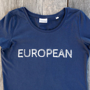 EUROPEAN T-shirt Women - White statement - European By Choice