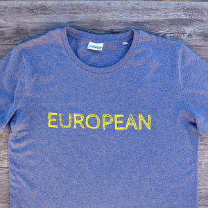 EUROPEAN T-shirt Men - Yellow statement - European By Choice