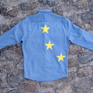 Stars Faux-Jeans Shirt Unisex, Jeans shirt - European Flag Fashion, Clothing & Apparel from  European By Choice