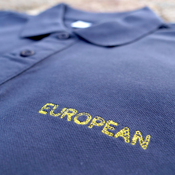 EUROPEAN Polo - yellow statement - European By Choice