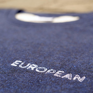 EUROPEAN Sweater Unisex - White statement - European By Choice