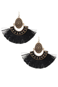 Tassels fan earring