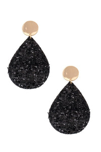 Sequin teardrop dangle earring