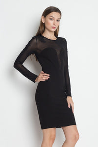 Blacked Out Mesh Body-Con Dress