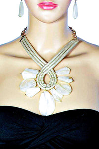 Twisted Rope Statement Necklace