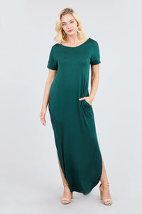 Cute And Comfy Maxi Dress in Green