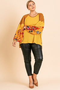 Keep It Casual Knit Top In Mustard