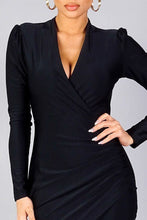 """Caught Off Guard"" Body Dress In Black"