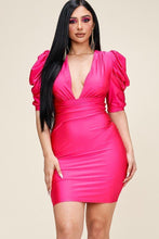 """I'm Calling The Shots"" Mini Dress In Hot Pink"