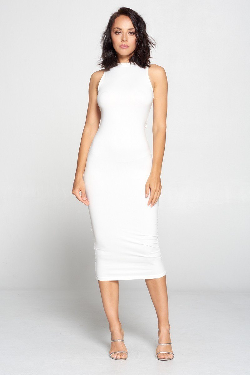 """All White Affair"" Body Con Dress"