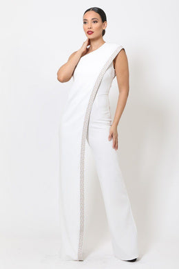 """I'm The One"" Chic Jumpsuit In White"