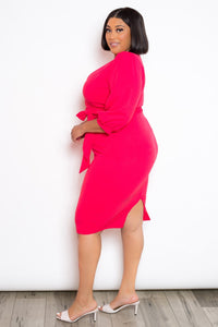 """Jazzy Girl"" Midi Dress In Coral"