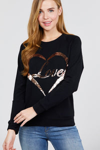 """ Love Letters""Sequins Top in Black"