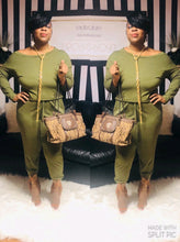 "The "" Grown and Sexy"" Jumpsuit In Army Green"