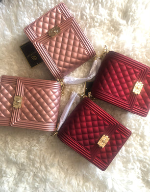 """Luxury Girl"" Jelly Crossbody Bags (Solid Colors)"