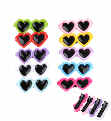 Heart Sunglasses Hair Clip