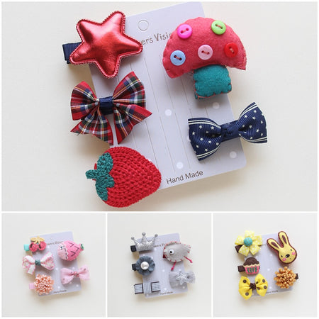 Dog Hair Clips - 5pc Set