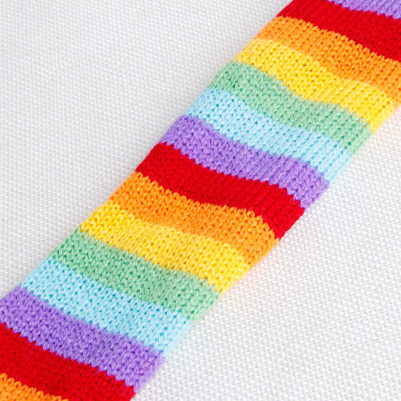 Rainbow Stripe Knit Outfit