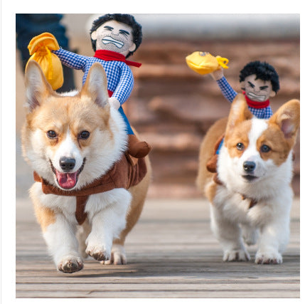 Cowboy Riding Dog Costume